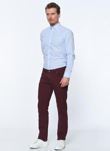 George Hogg Uzun Kollu Slim Fit Gömlek Mavi